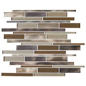 shop american olean bronze blast mixed glass and metal mosaic indoor outdoor wall tile common