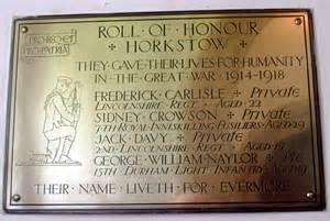 Horkstow Church - War Memorial © David Wright cc-by-sa/2.0 ...