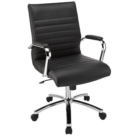 realspace winsley mid back chair black