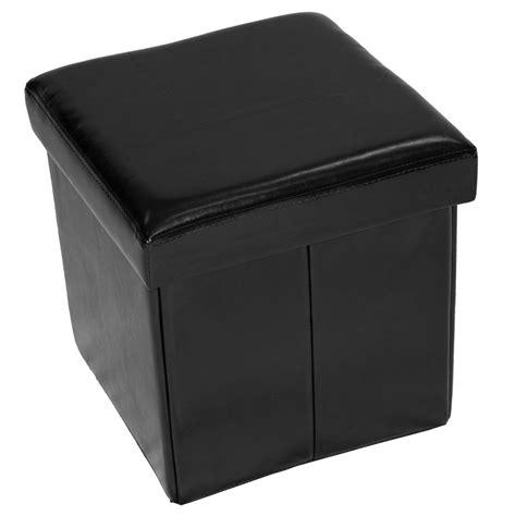 Folding Storage Ottoman by Home Furnishings Small Folding Storage Ottoman Black Ebay