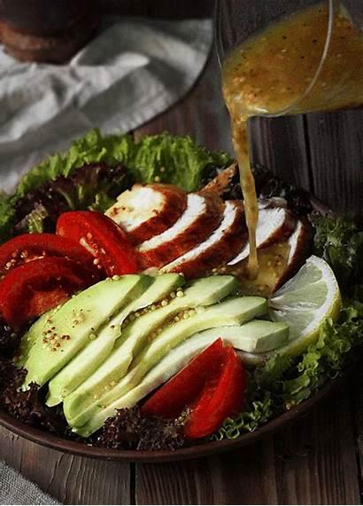 Salad Dressing Lunch Gifs Avocado Chicken Tomato