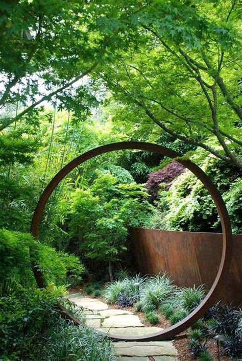 metal projects rusted amazing garden landscape