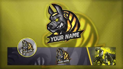 gaming logo banner  avatar template psd youtube