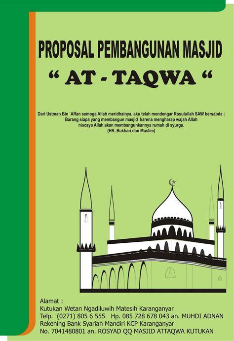 pembangun masjid  taqwa