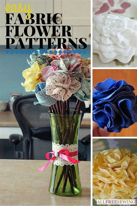 How To Make Upholstery Patterns by 25 Easy Fabric Flower Patterns Allfreesewing