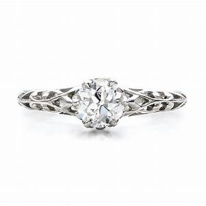 estate solitaire diamond edwardian engagement ring 100896 With estate wedding ring