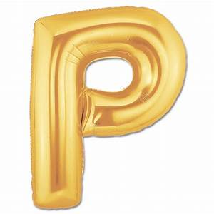 mylar helium balloons With letter p gold