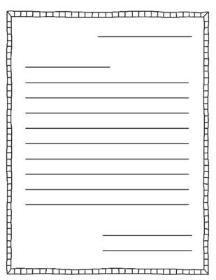 Free Letter Writing Template by Letter Writing Template Letter Writing And Templates On
