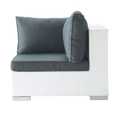 canape en resine tressee angle de canapé de jardin en résine tressée blanc antibes