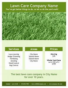 Lawn care flyer template for word for Lawn care flyers template