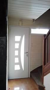 installation porte d39entree et chassis fixe aluminium a With porte d entrée alu avec miroir salle de bain avec prise électrique