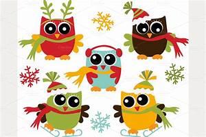 Cute Christmas Owl Clipart - Clipart Suggest