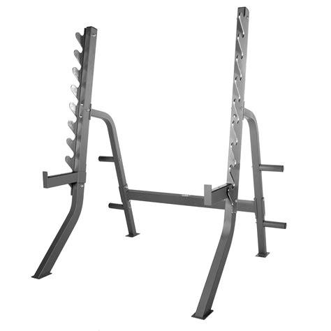 xmark commercial  gauge adjustable squat rack  plate storage xm  shop