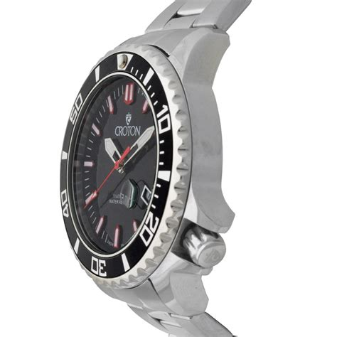 Men's All Stainless Steel Quartz Watch With Red Second