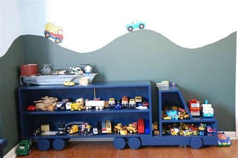 chambre pour deux enfants etagère camion pour chambre de garçon