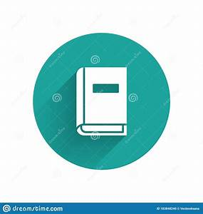 White User Manual Icon Isolated With Long Shadow  User