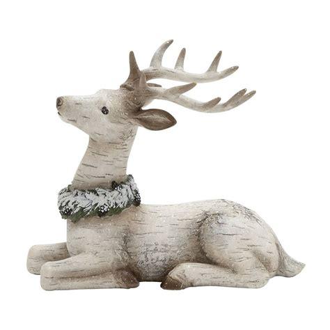 shop woodland imports resin freestanding reindeer figurine