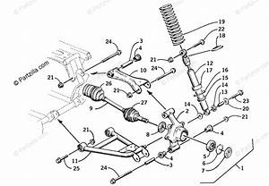 Arctic Cat Atv 2001 Oem Parts Diagram For Rear Suspension Assembly