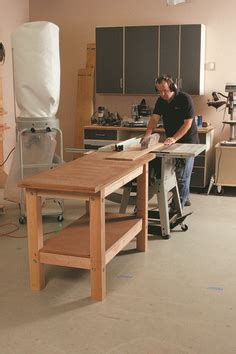 tablesaw outfeed table images tools workbenches