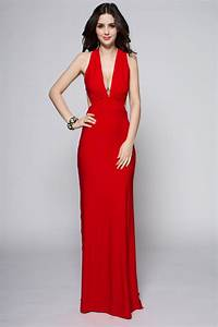 Sexy Full Length Red Backless Evening Dress ...