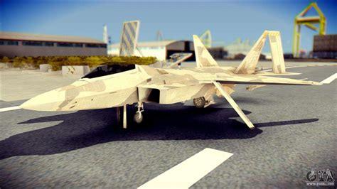 F-22 Raptor Desert Camo For Gta San Andreas