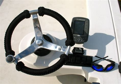 Boat Steering Wheel Location by Steering Wheel Wrap The Hull Boating And Fishing