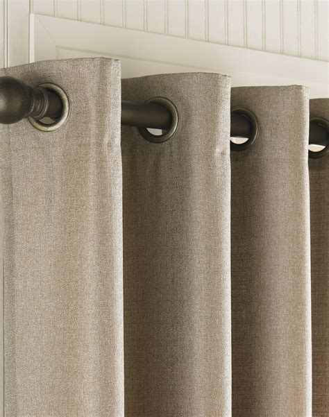 grommet curtains monterey textured barkcloth lined
