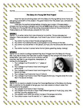 diary  anne frank project teaching pinterest