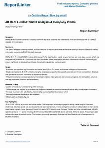 JB Hi-Fi Limited: SWOT Analysis & Company Profile