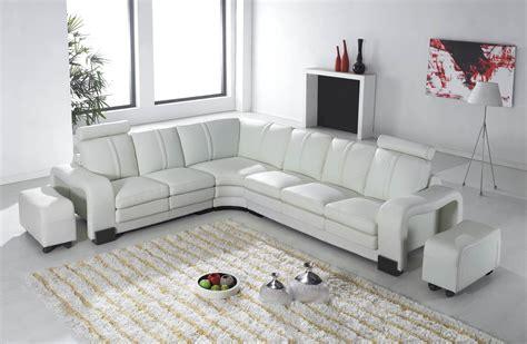 canape d angle en cuir blanc deco in canape d angle en cuir blanc avec appuie tete relax havane angle gauche can