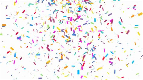 stock video  animation  colorful confetti falling
