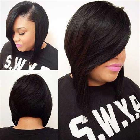 short weave dark bob hairstyle   HairzStyle.Com