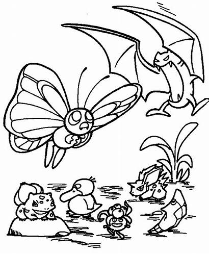 Coloring Pages Pokemon Groups Advanced Omalovanky Popular