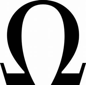 Greek Omega Small clip art vector, free vector graphics ...