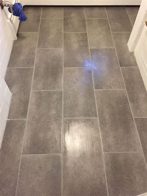 Groutable Vinyl Tile In Bathroom by Home Depot Trafficmaster Groutable Vinyl Tile Coastal Grey