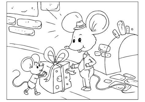 dibujo  colorear daa del padre ratones img