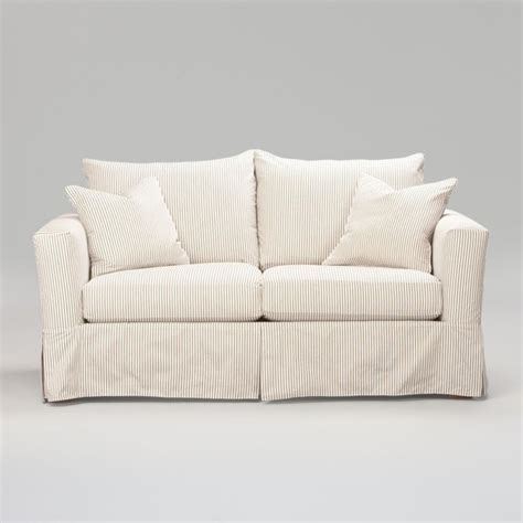 ethan allen sectional sofa slipcovers hton 74 quot sofa slipcover traditional sofas by