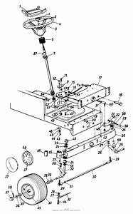 Mtd 133k679g205  1993  Parts Diagram For Steering Assembly