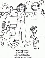 Crossing Coloring Guard Helpers Community Neighborhood Pages Preschool Sheets Safety Homeschooling Social Books Studies Students Worksheets Dover Publications Doverpublications Activities sketch template