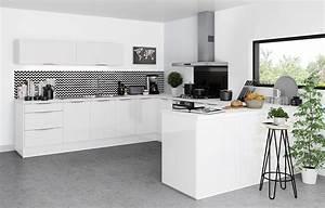 Cuisine Blanc Et Noir : comment choisir sa cr dence de cuisine et son fond de hotte ~ Voncanada.com Idées de Décoration