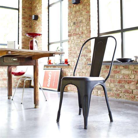 achat chaise metal style industriel pour salon tikamoon