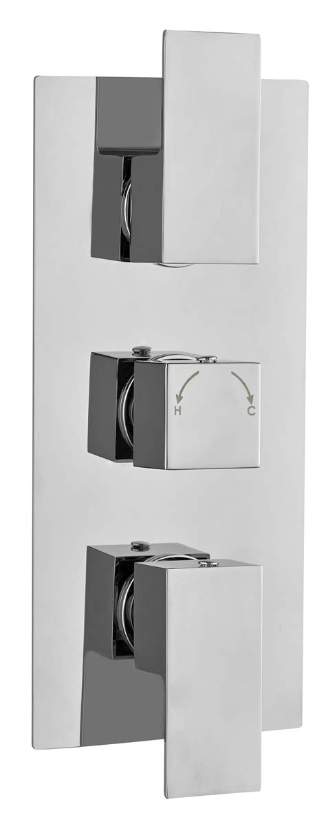 3 Outlet Shower Valve - 1 2 3 way outlet concealed thermostatic shower mixer