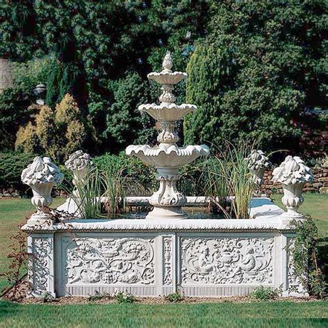 Garten Brunnen Becken Antik  Aston Park • Gartentraumde