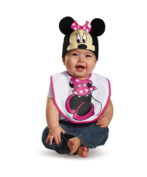 infant minnie mouse t pink minnie mouse bib and hat baby costume