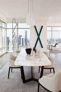 la table de salle a manger en 68 variantes archzinefr With table de salle a manger en marbre
