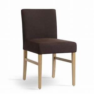 chaise de salle a manger en bois et tissu sharon mobitec With salle À manger contemporaineavec chaise salle a manger bois et tissu