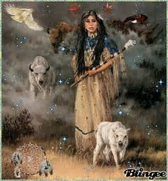 Native American Indian Woman Drawing