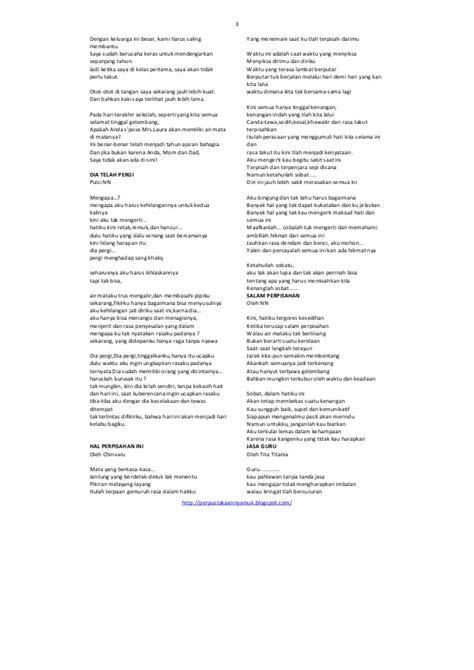 Contoh Puisi Guru Untuk Perpisahan - Simak Gambar Berikut