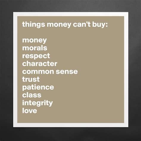 Money Morals Respect Chara