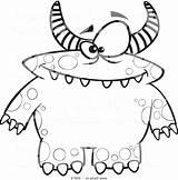 Monster Coloring Printable Cartoon Dojo Class Ryan Toy Aloha Getcolorings Getdrawings Pag Divyajanani Colorings sketch template